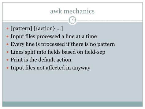 awk pattern variables awk essentials