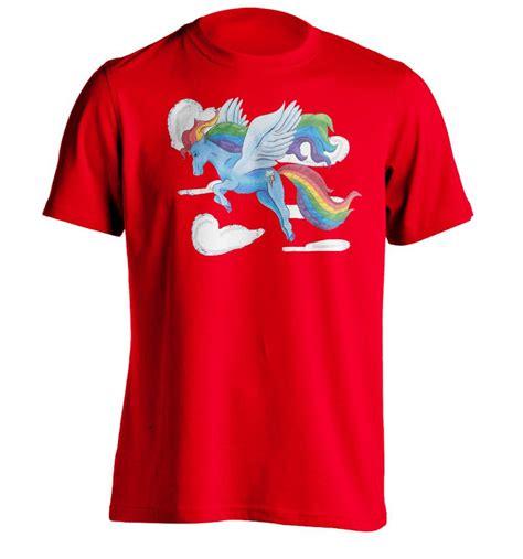 the real rainbow dash mens custom t shirt printing in