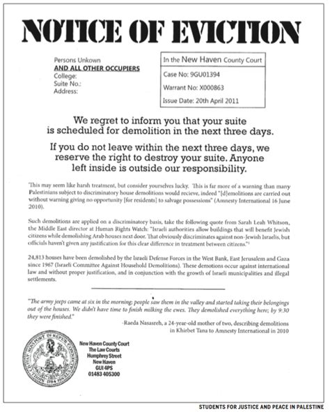 printable sle eviction notice texas form real estate