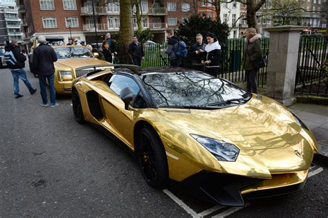 car lamborghini gold wealthy prince drives a fleet of gold supercars pars herald