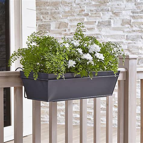 zinc rail planter box and hook crate and barrel