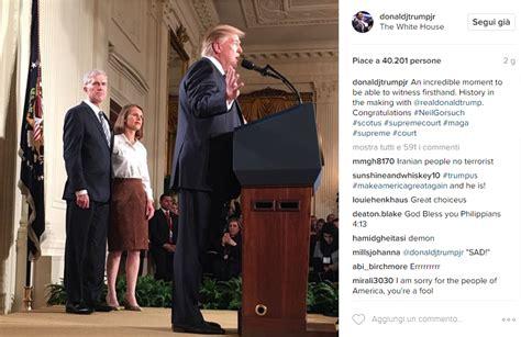neil gorsuch instagram i primi 17 giorni di the donald alla casa bianca