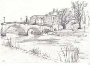 sketchbook landscape richmond bridge drawing from bridge drawing