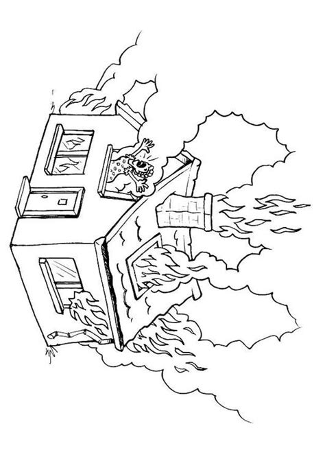 coloring pages of house on fire coloring page house on fire img 8176