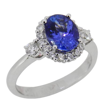 tanzanite 18ct white gold ring flair jewellery