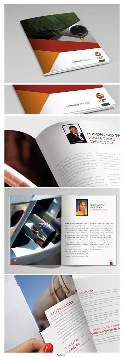 Oil Company Profile Design | econ oil company profile design layout on behance