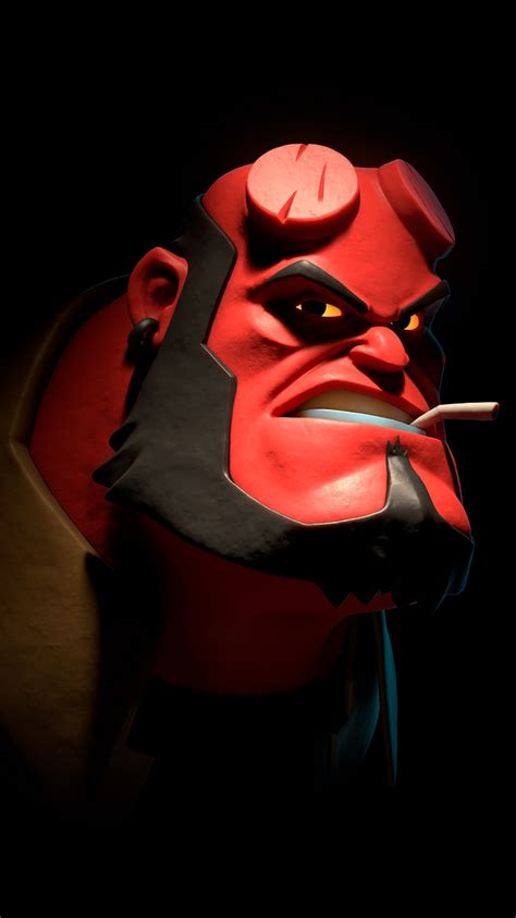 hellboy funny face iphone wallpaper iphone wallpapers