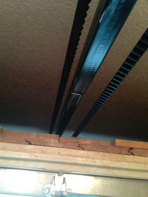 garage door opener belt sags  opening home