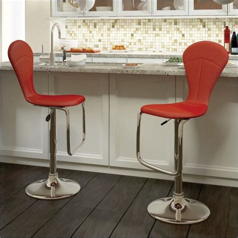 Scan Design Bar Stools by Sonax Corliving Tapered Back Bar Stool In Leatherette