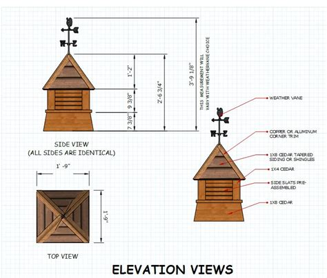Free Cupola Blueprints free cupola plans for your neat shed
