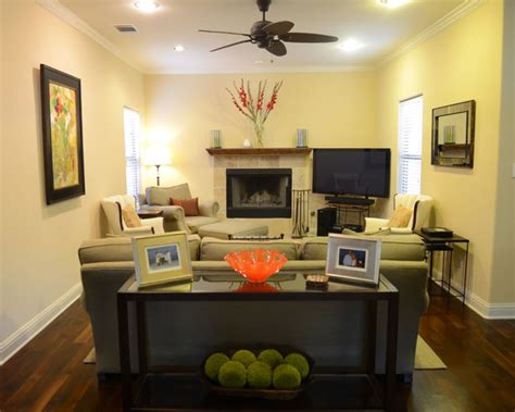 Houzz Living Room Color Schemes Cozy And Colorful Tarrytown Home Contemporary Living