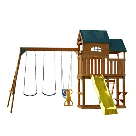 swing lowes shop swing n slide coveside ready to assemble residential