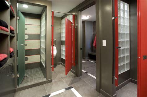 gym bathroom sport court locker room