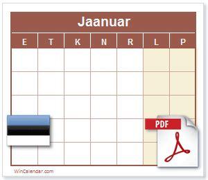 tasuta  eesti kalender  printable calendar