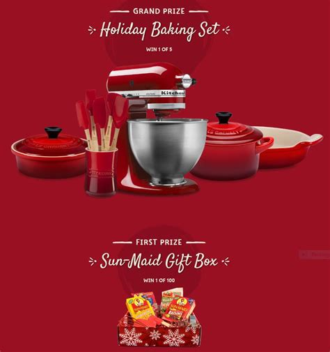 Sun Maid Sweepstakes - sun maid bake it for santa sweepstakes baking set gift box 105 winners