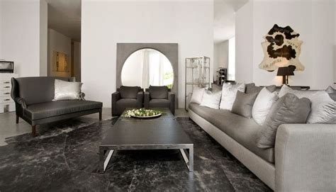 silver living room furniture interior design silver round mirror match the black grey