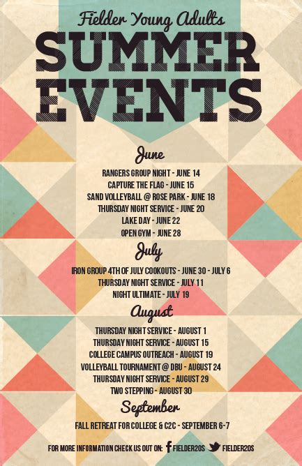 summer calendar event posters lauren hill