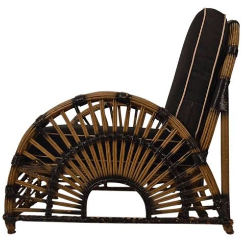 deco wicker lounge chair for sale at 1stdibs