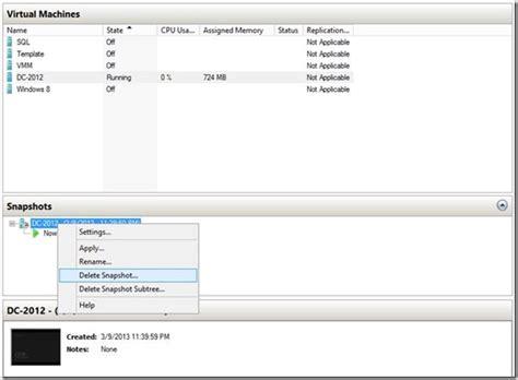 how to manually merge hyper v snapshots into a single vhd windows server 2012 hyper v live snapshot merge
