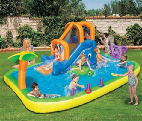 best backyard pools for kids best inflatable pool with slide for kids fres hoom