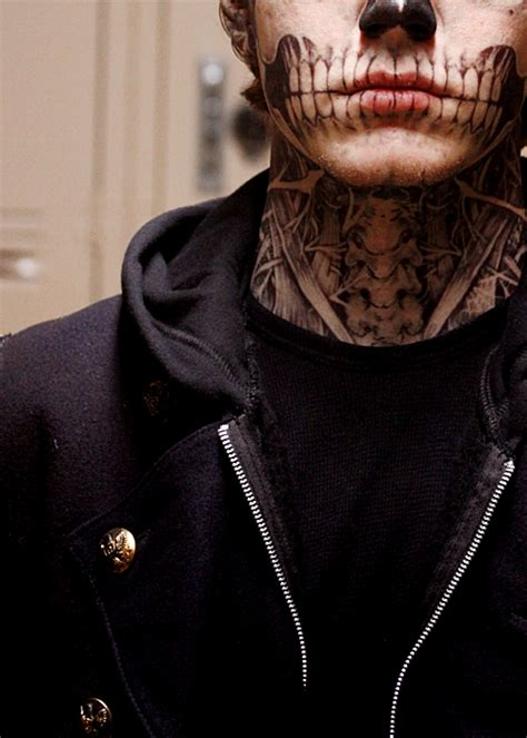 evan peters tattoo skeleton