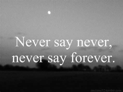 Never Forever 1 never say forever on