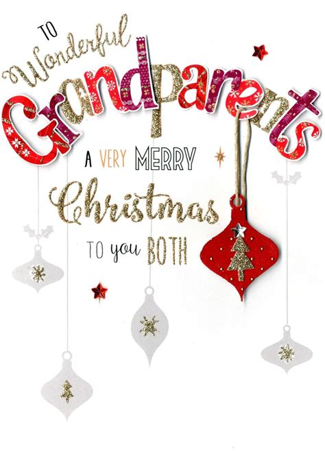 grandparents embellished christmas card cards love kates