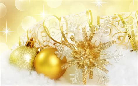 golden christmas ornaments wallpaper hd wallpapers