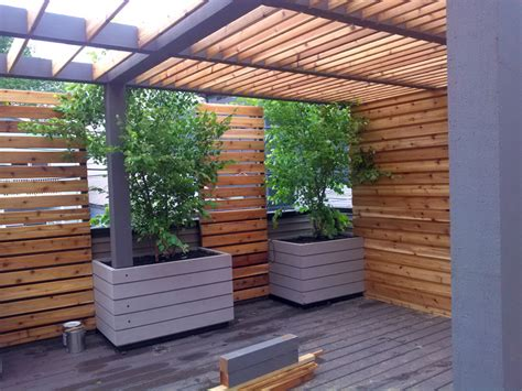 pergola cedar oiled and painted privacy screen