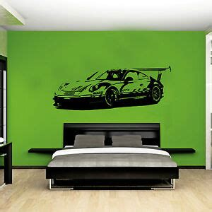 porche da letto xl large car porsche 911 gt3 race bedroom graphic wall