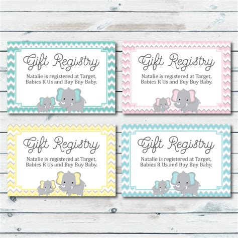 Gift Card Registry - baby registry cards km creative