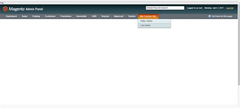 magento layout xml not working magento 1 9 template for custom admin panel tab not