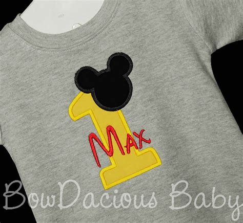 St Mickey Mouse Grey Cc personalized mickey mouse birthday shirt 1st 2nd 3rd