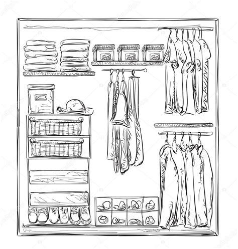 Schrank Skizze by Gezogene Kleiderschrank Skizze Kleidung