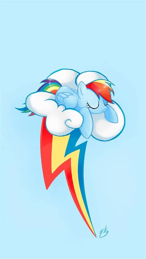 Rainbow Dash Cloud Iphone All Hp rainbow dash wallpaper iphone wallpapersafari
