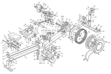 rowing machine diagram concept2 spare parts