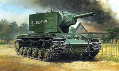 Tamiya 148 Russian Heavy Tank Kv 2 Gigant tamiya 32538 1 48 russian heavy tank kv 2 gigant