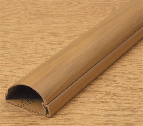 D Line Mini Trunking 16mm x 8mm Wood Self Adhesive