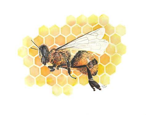 honey bee original watercolor painting 200 00 via etsy watercolor butterflies moths