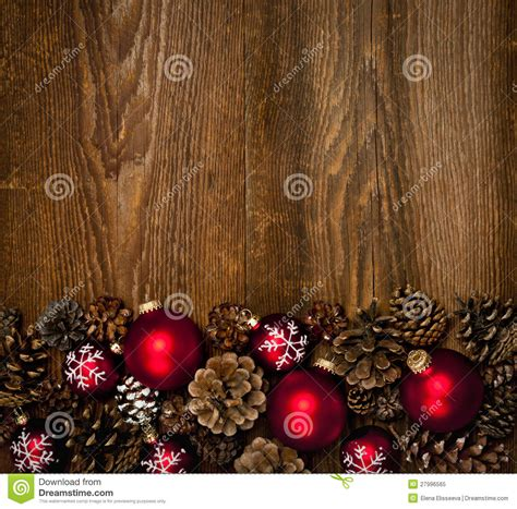 wood background  christmas ornaments stock image