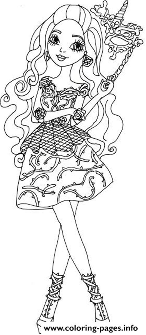 briar beauty thronecoming ever after high coloring pages