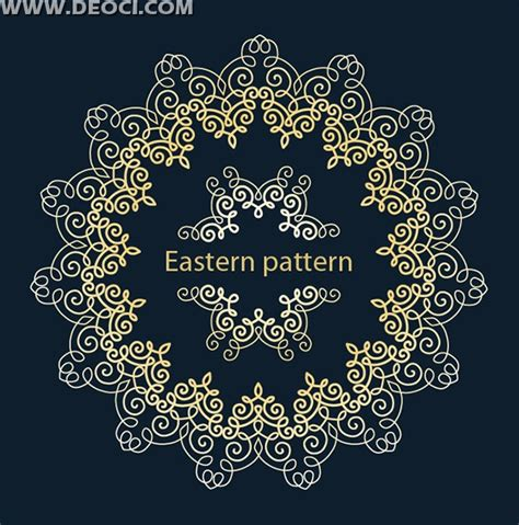 pattern box ai golden circular pattern box ai free download deoci com