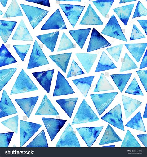 painting pattern pinterest seamless pattern watercolor triangles hand painted stock
