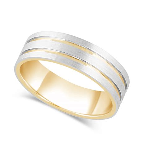 s 9ct gold palladium wedding ring