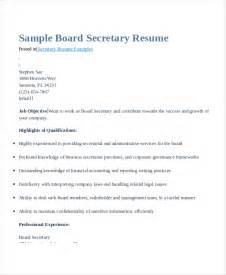 Secretary Resume Templates Secretary Resume 9 Free Pdf Word Documents Download