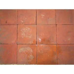 8x8 red quarry tile hadley reclaimed