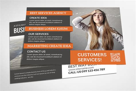 Business Postcards Templates Free Corporate Business Postcard Template Card Templates On