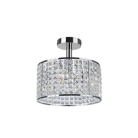 crystal bathroom ceiling light firstlight 6152 pearl 4 light chrome and crystal bathroom