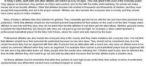 Athletes As Models Essay athletes as models at essaypedia