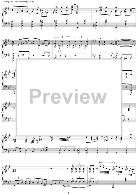 """Buy """"St. Louis Blues"""" Sheet Music by Hank Duncan for Piano"""